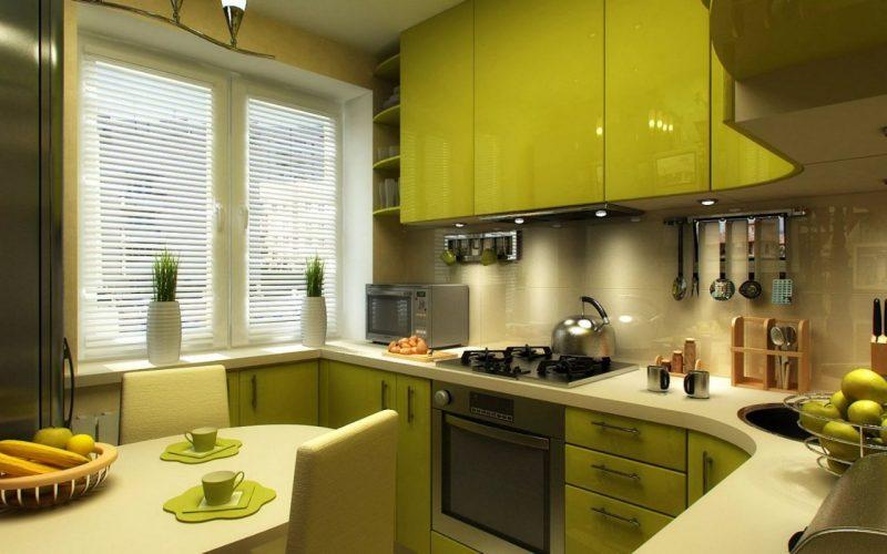 Горизонтальні жалюзі для вікна на кухні - фото 44