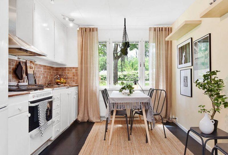 Оформлення штор на кухні - фото 40