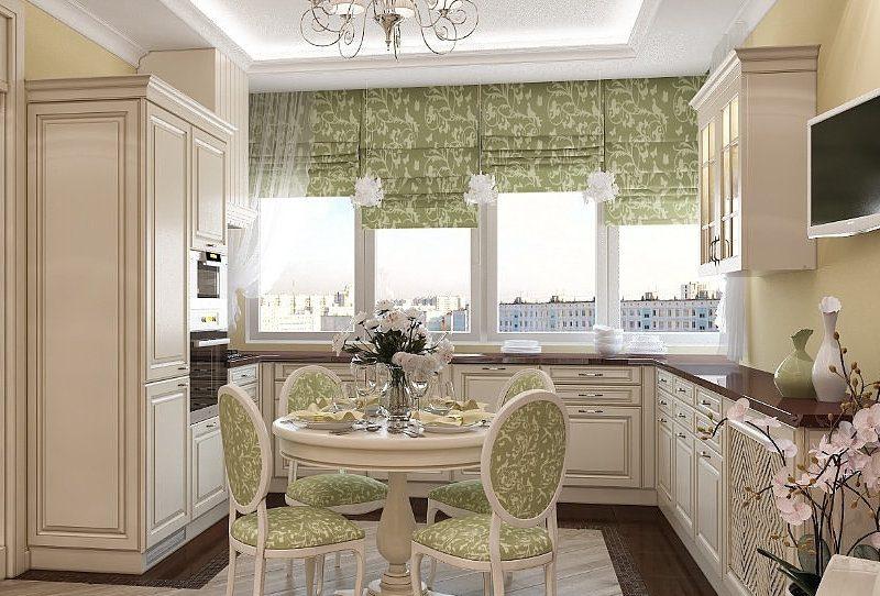 Римські штори на кухні - фото 12