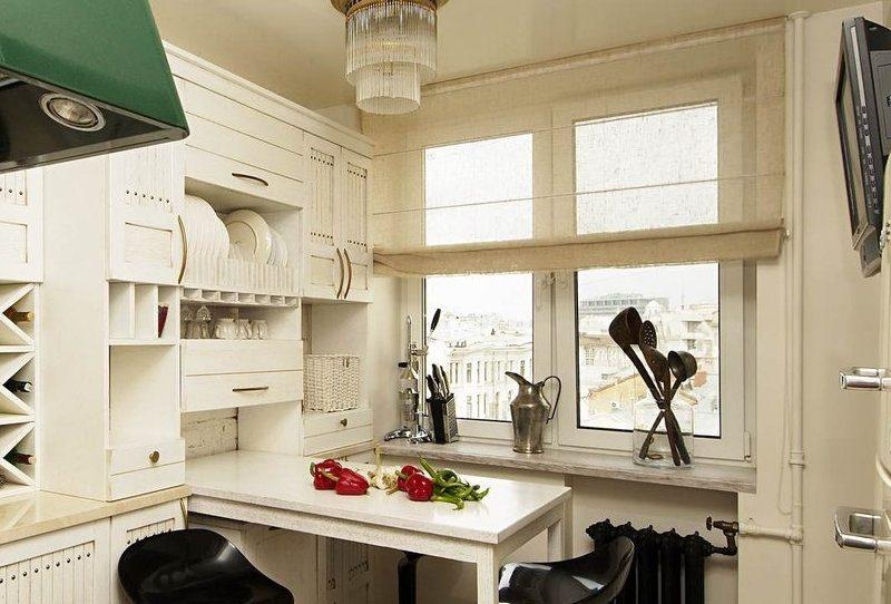 Римські штори на кухні - фото 13