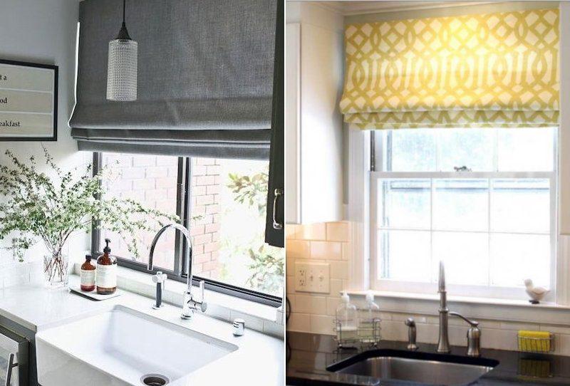 Римські штори на кухні - фото 15