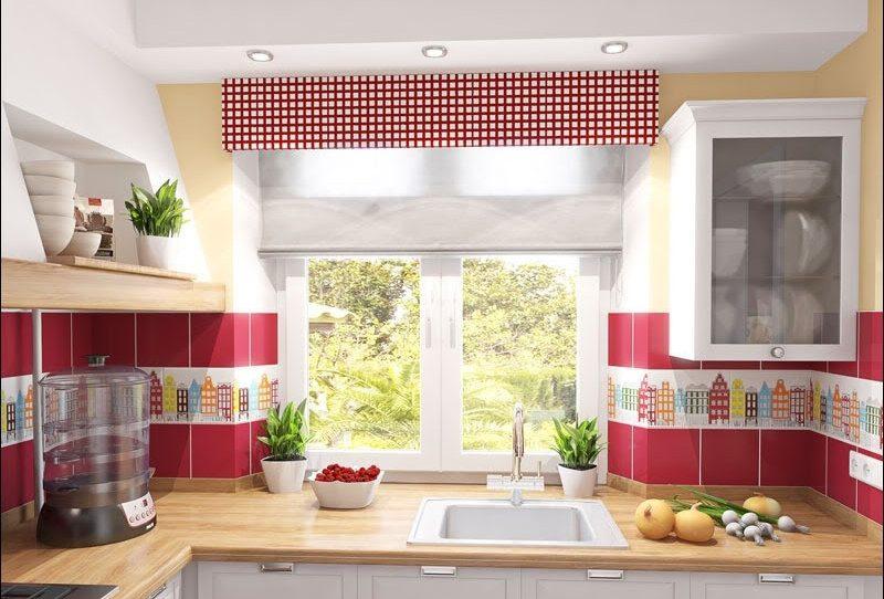 Римські штори на кухні - фото 16