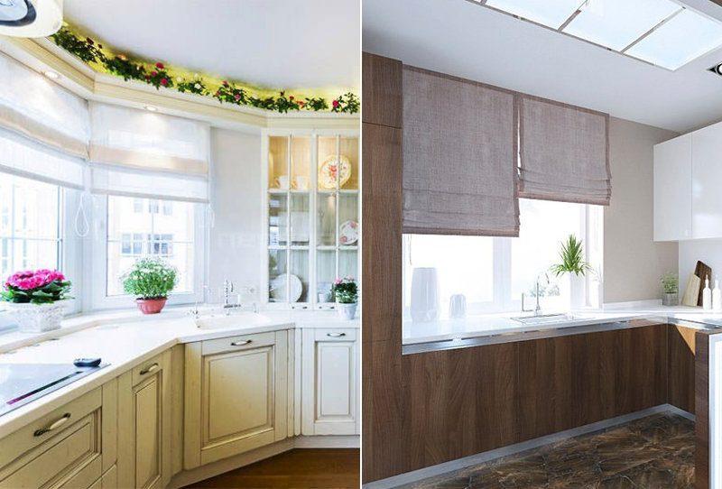 Римські штори на кухні - фото 21