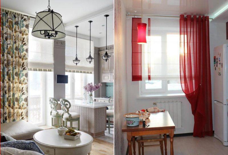 Римські штори на кухні - фото 28