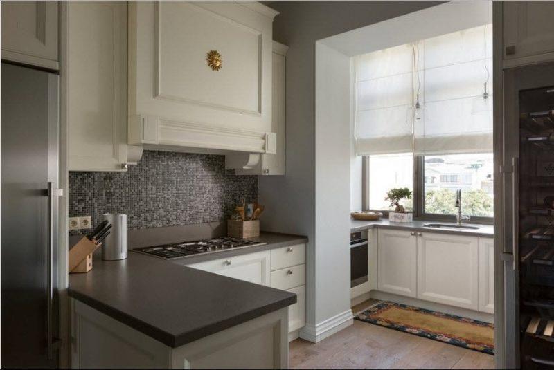 Римські штори на кухні - фото 29