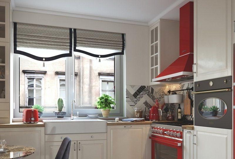 Римські штори в кухні - фото 19