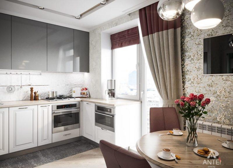 Штори і римські штори на кухні - фото 25