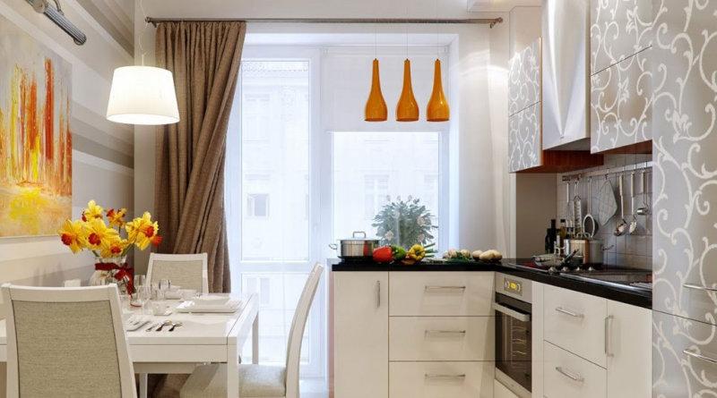 Штори на кухні: 120 фото оформлення вікна
