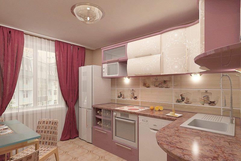 Штори на кухні - фото 35