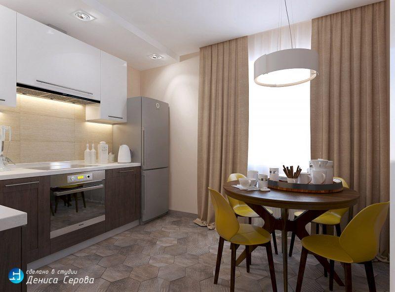 Штори в кухні - фото 22