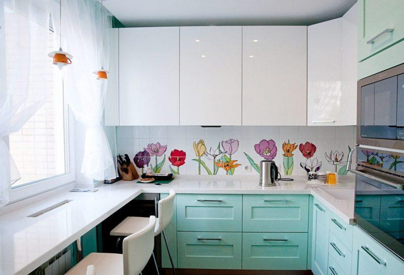 Туль на кухні - фото 38