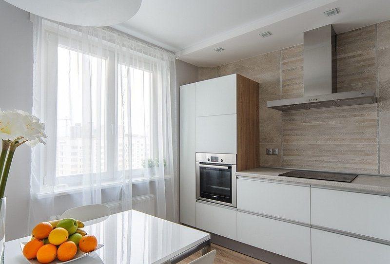 Тюль на кухні - фото 6