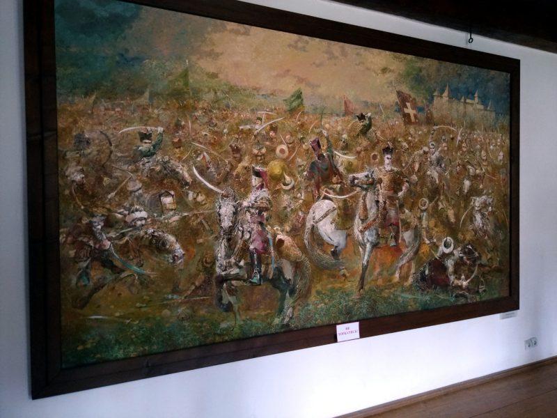 Картина з зображенням бою - фото з Хотинської фортеці