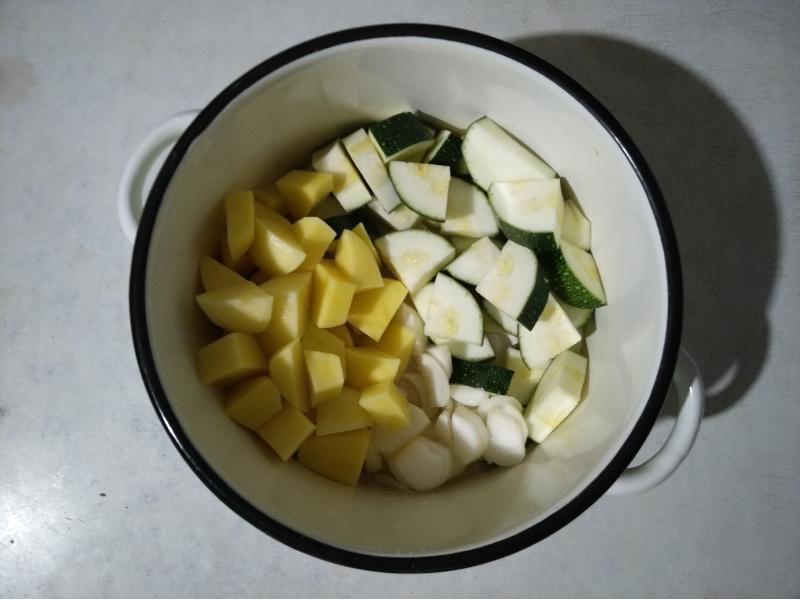 Страви з кабачків - рагу з кабачків і картоплі фото - 7