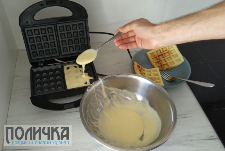 Вафлі з сиром - приготування у вафельниці