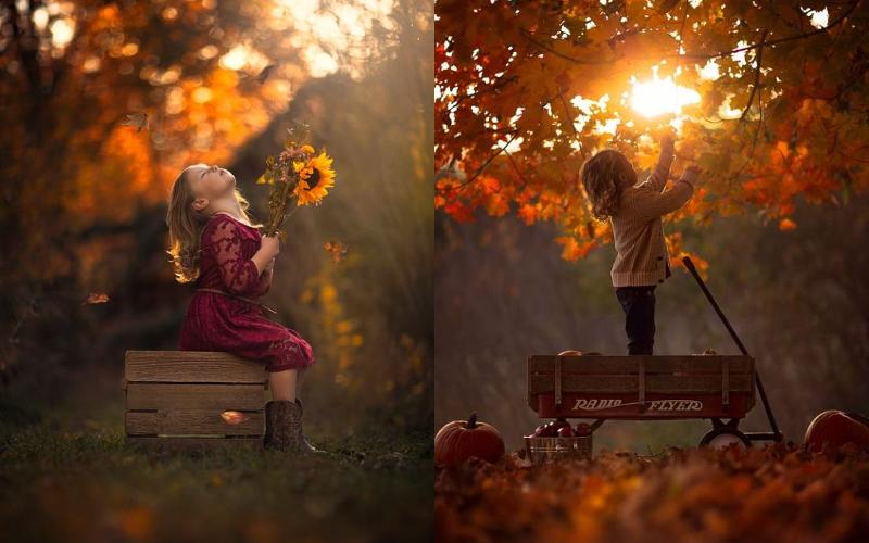 Осіння фотосесія дітей фото - 13