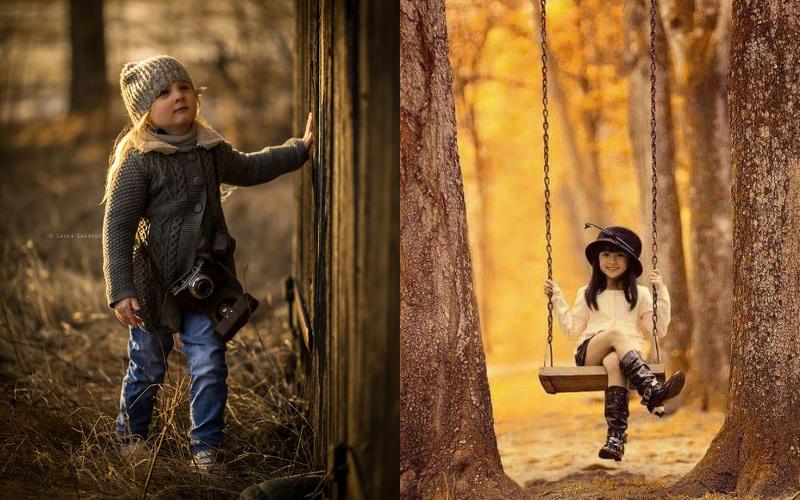 Осіння фотосесія дітей фото - 14