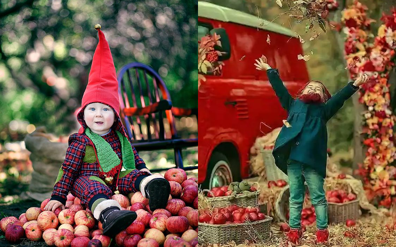 Осіння фотосесія дітей фото - 5