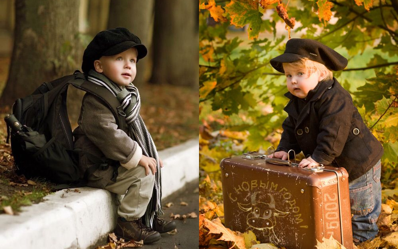 Осіння фотосесія дітей фото - 6