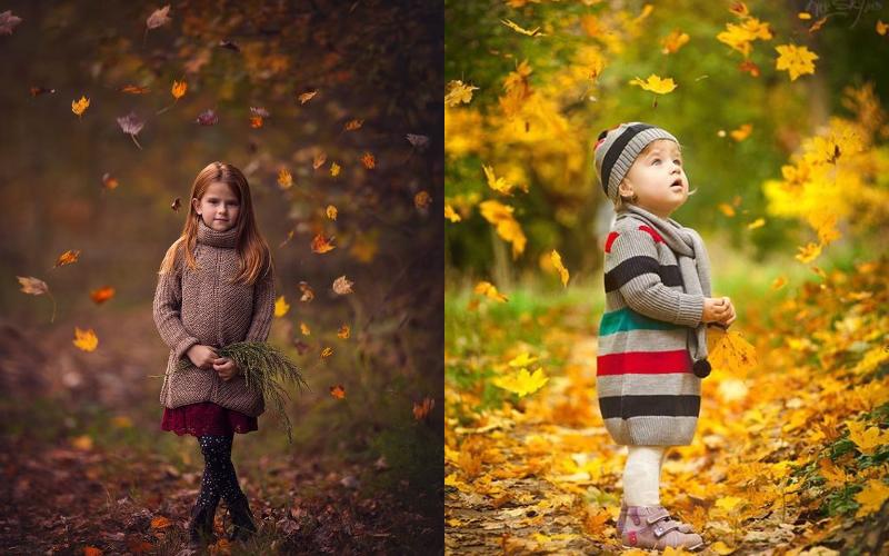 Осіння фотосесія дітей фото - 8