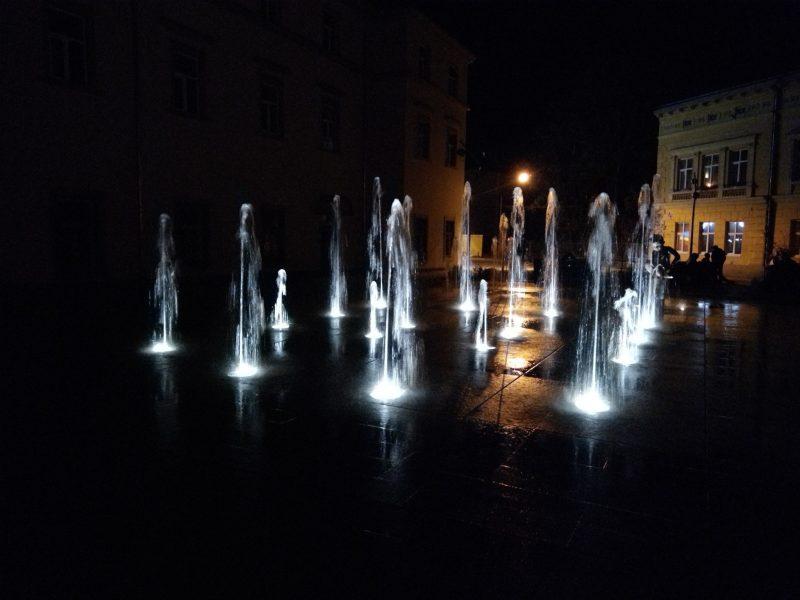 Нічні фонтани у Львові