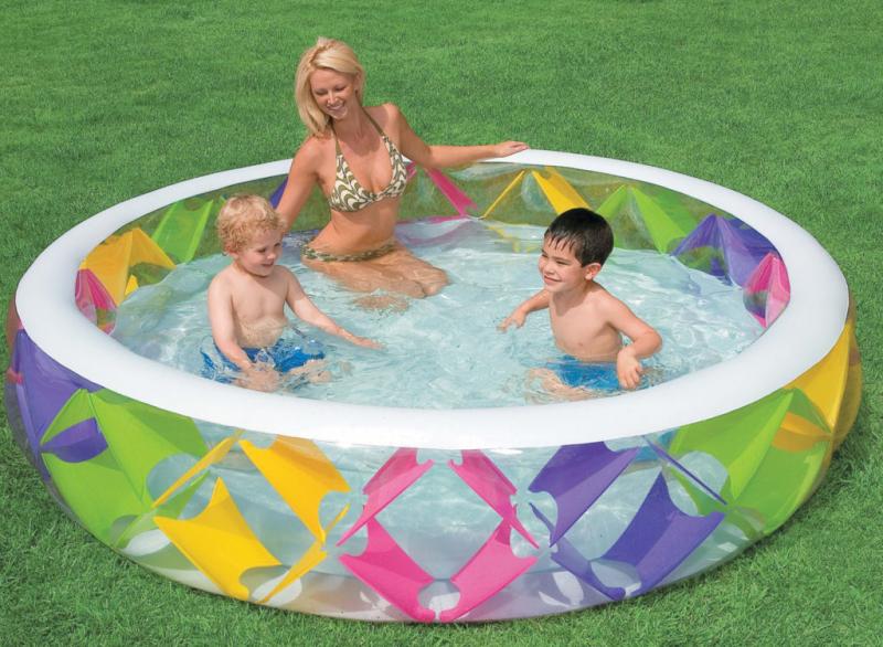 Переваги басейнів з надувним дном
