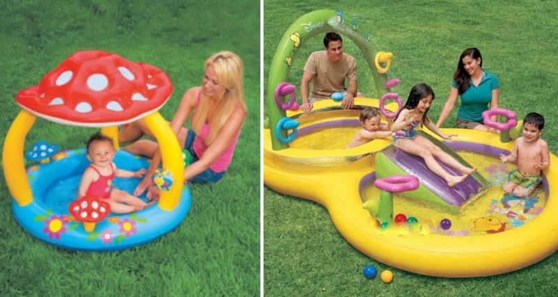 Якими бувають дитячі надувні басейни