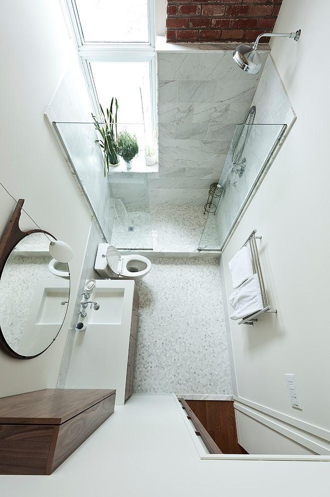 Дизайн маленької ванної з душем - фото 2
