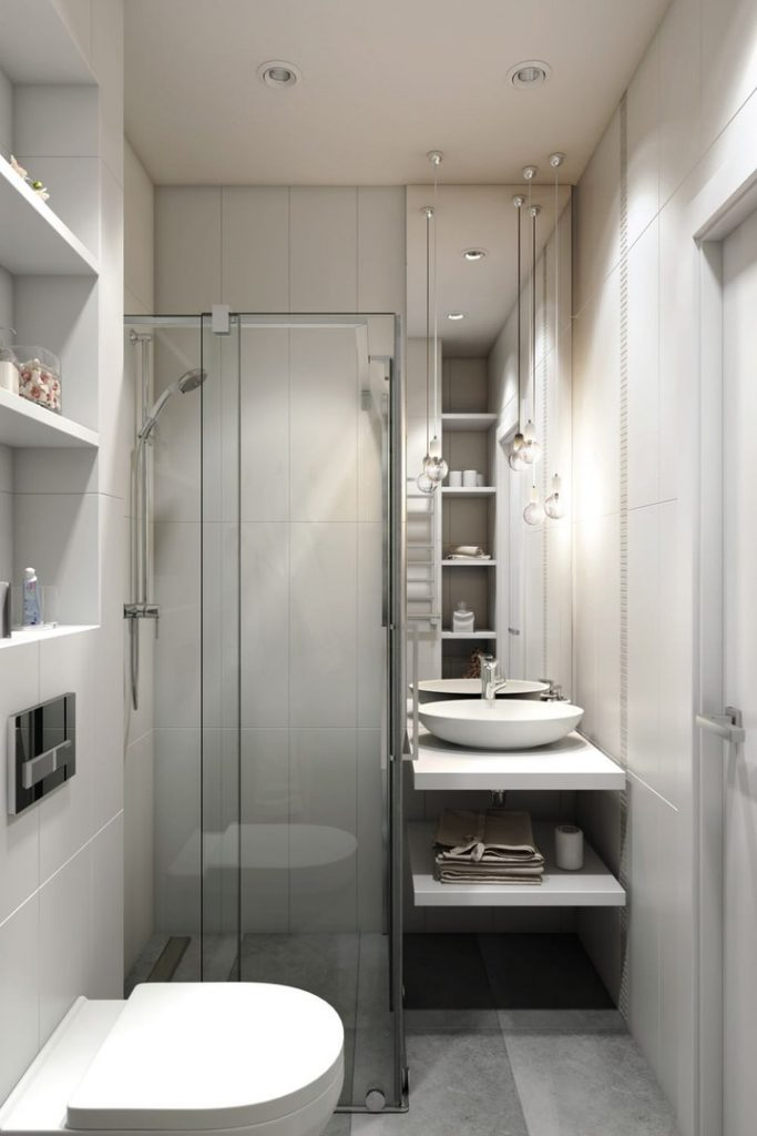 Дизайн маленької ванної з душем - фото 3