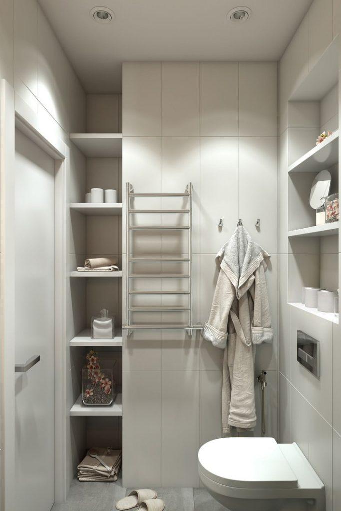 Дизайн маленької ванної з душем - фото 4