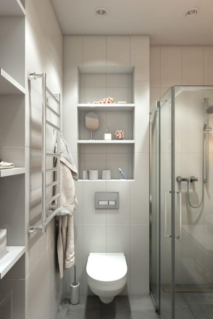 Дизайн маленької ванної з душем - фото 5