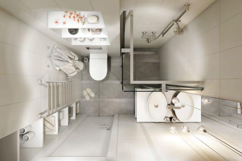 Дизайн маленької ванної з душем - фото 6