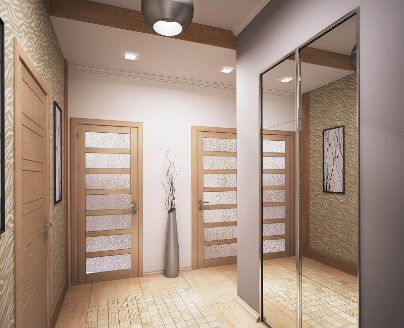 Дизайн однокімнатної квартири 1 - фото коридору 2
