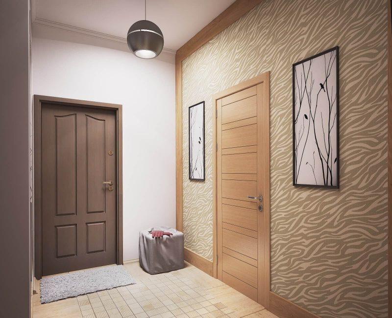 Дизайн однокімнатної квартири 1 - фото коридору