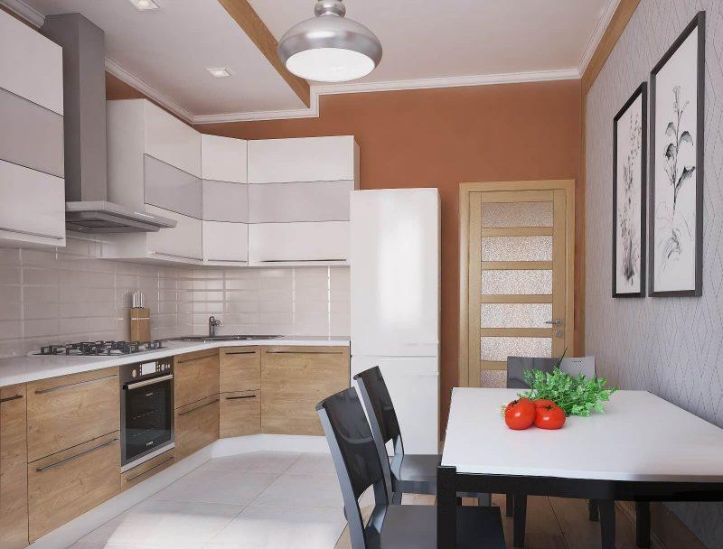 Дизайн однокімнатної квартири 1 - фото кухні
