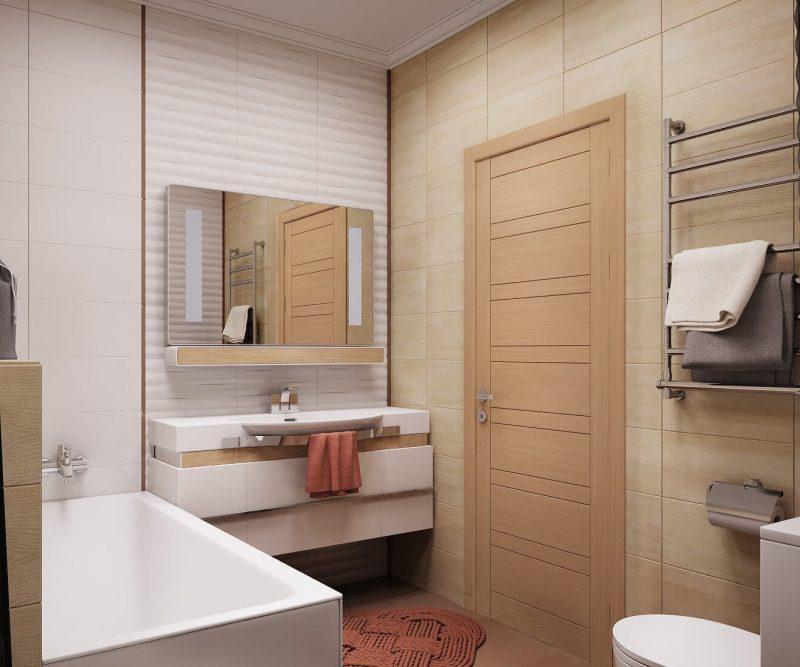 Дизайн однокімнатної квартири 1 - фото ванної