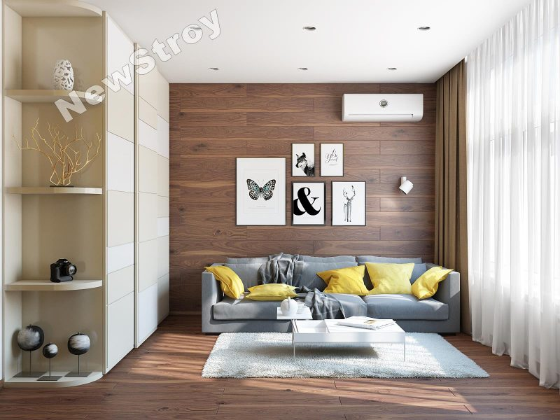 Дизайн проект однокімнатної квартири 35 м - фото 10