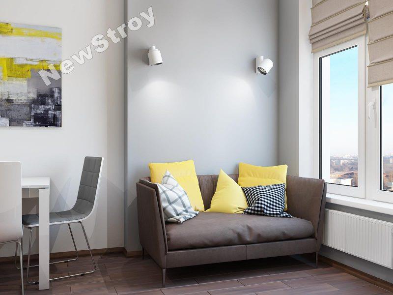Дизайн проект однокімнатної квартири 35 м - фото 12