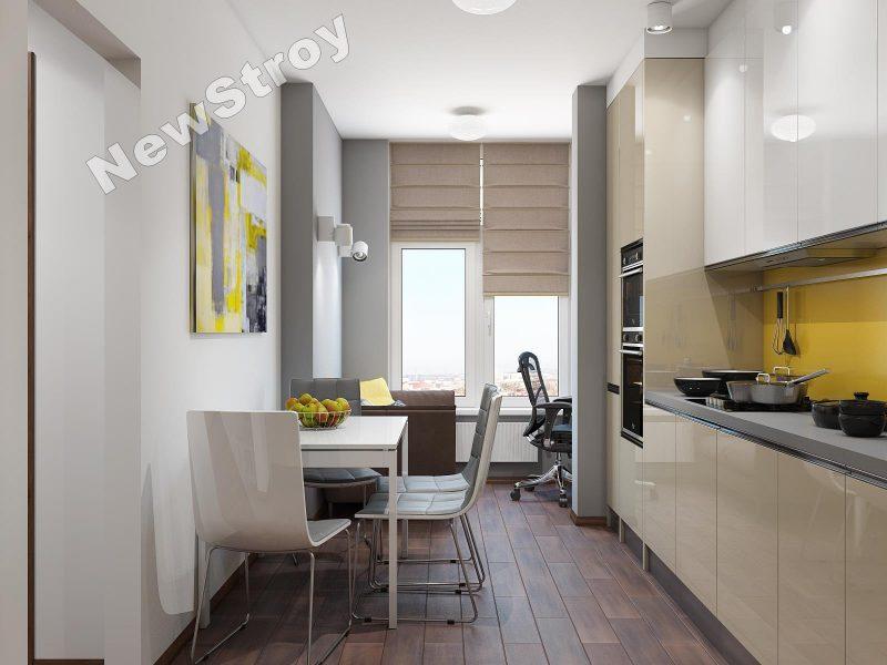 Дизайн проект однокімнатної квартири 35 м - фото 14