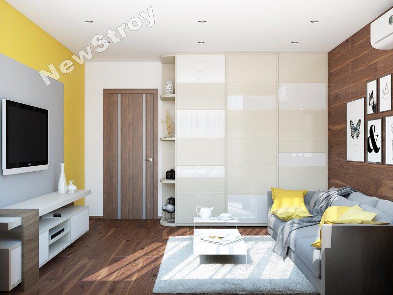 Дизайн проект однокімнатної квартири 35 м - фото 7