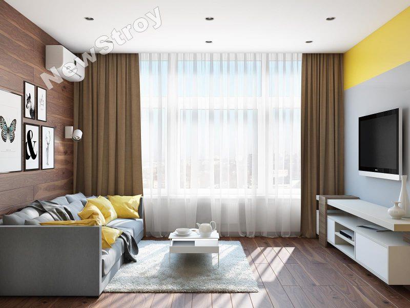 Дизайн проект однокімнатної квартири 35 м - фото 9