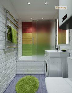 Дизайн проект однокімнатної квартири студії - фото 11