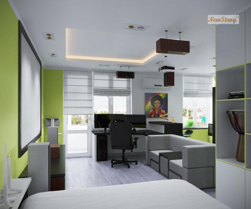 Дизайн проект однокімнатної квартири студії - фото 2