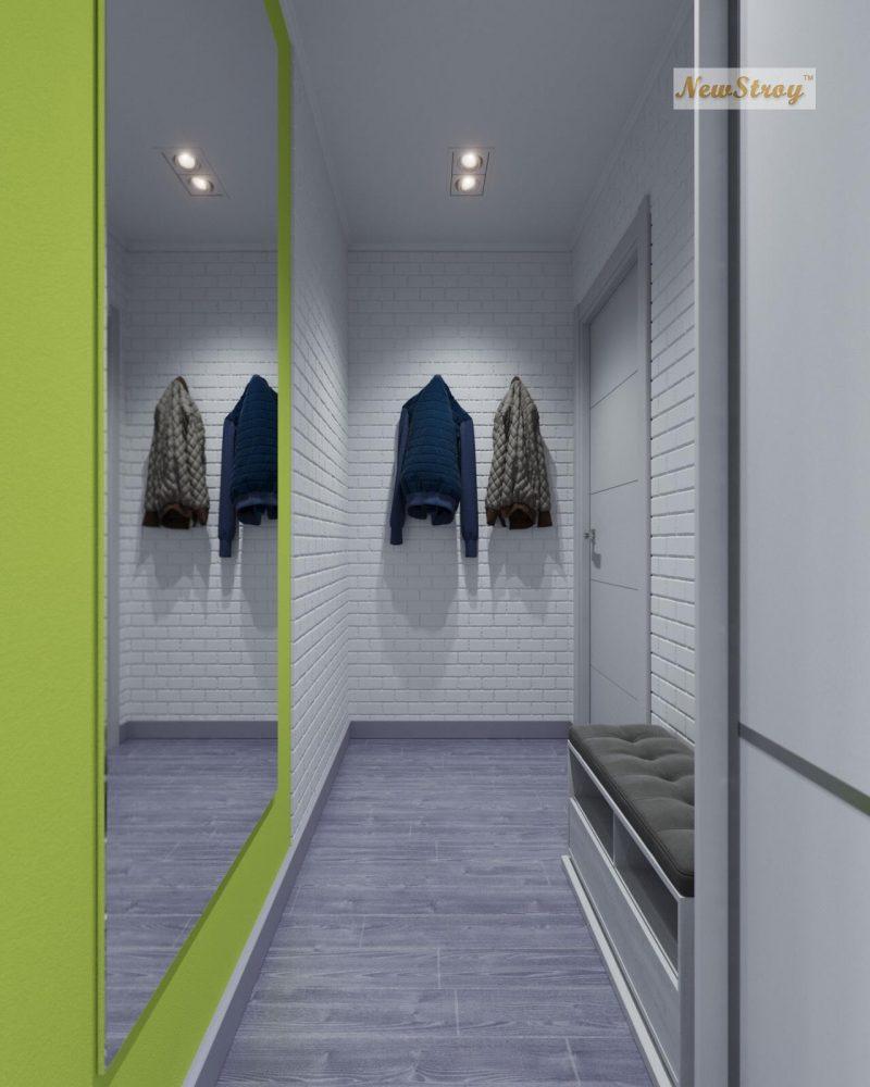 Дизайн проект однокімнатної квартири студії - фото 3