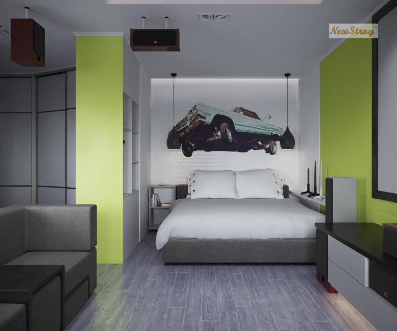 Дизайн проект однокімнатної квартири студії - фото 5