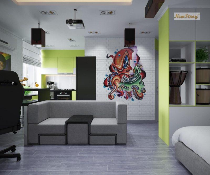 Дизайн проект однокімнатної квартири студії - фото 7