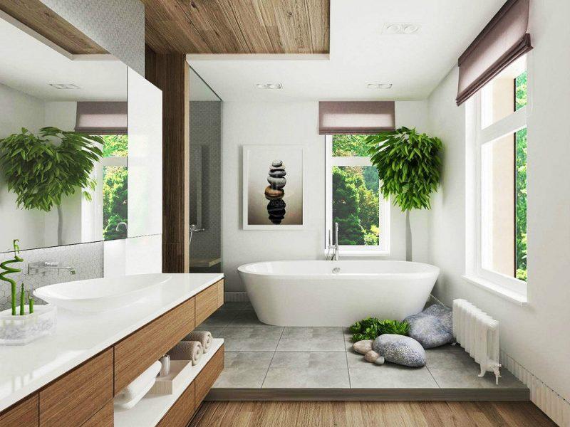 Дизайн розкішної ванної з душем - фото 19