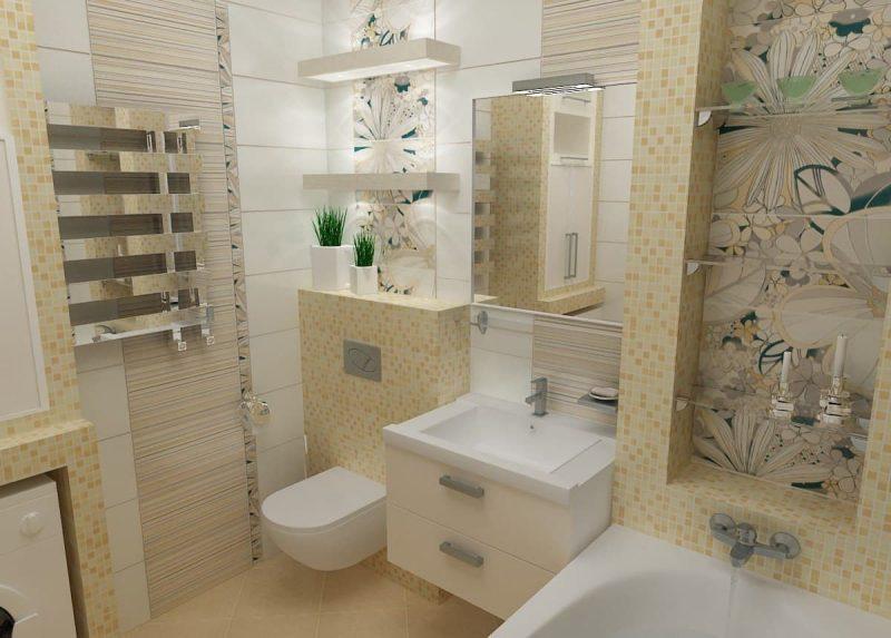 Дизайн ванної з пральною машиною - фото 7