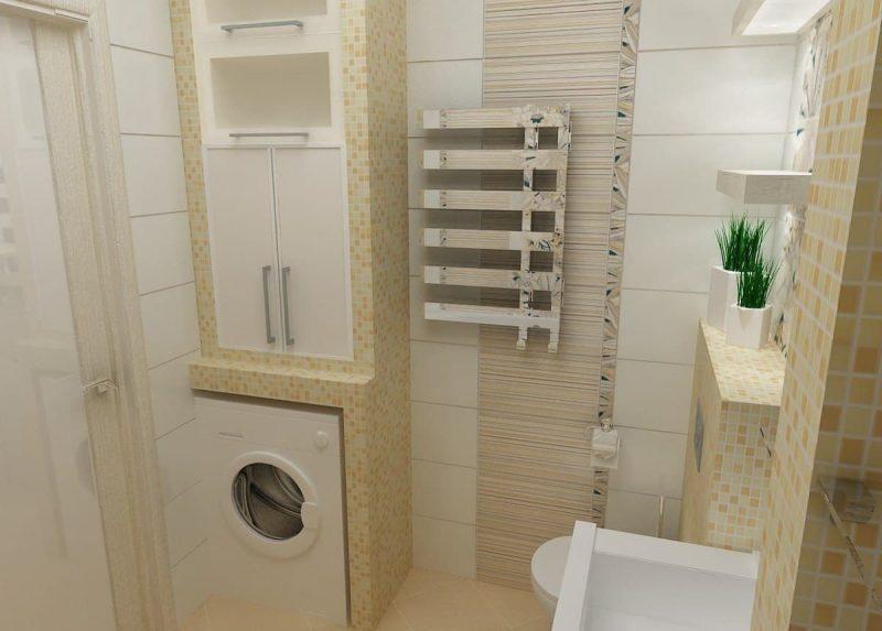 Дизайн ванної з пральною машиною - фото 8