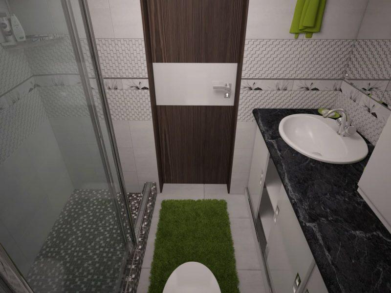 Дизайн ванної з великим душем фото 50